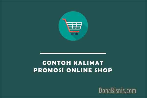 contoh kalimat promosi online shop