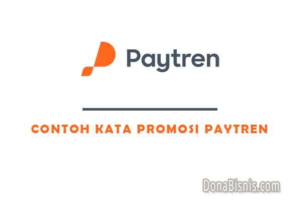 contoh kata promosi paytren