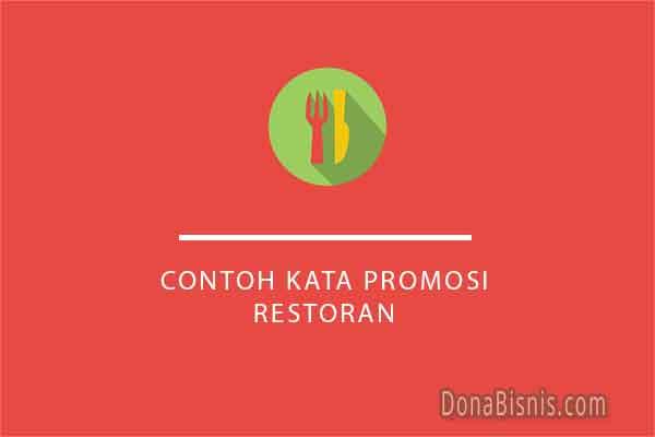 contoh kata promosi restoran