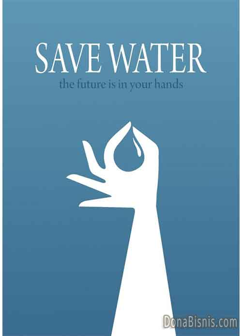 iklan poster hemat air