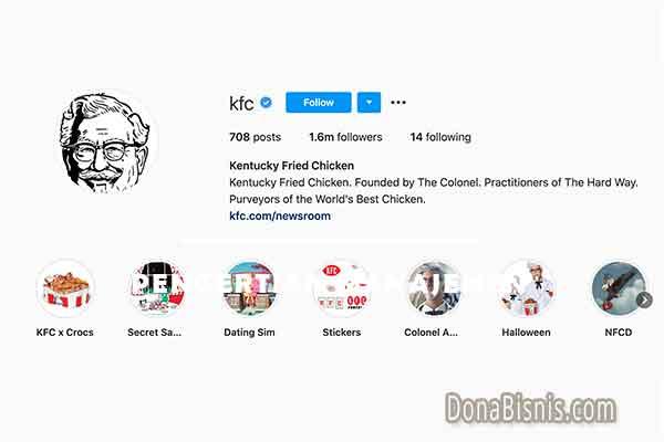 bio instagram bahasa inggris kfc