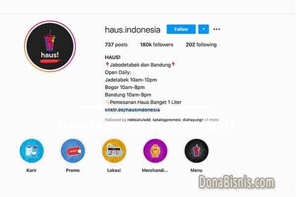 bio instagram bisnis makanan