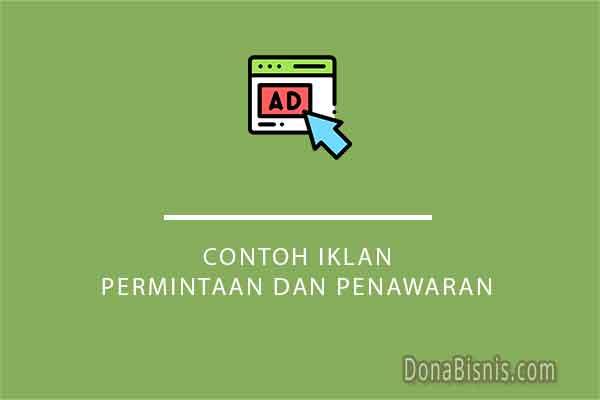 contoh iklan permintaan dan penawaran