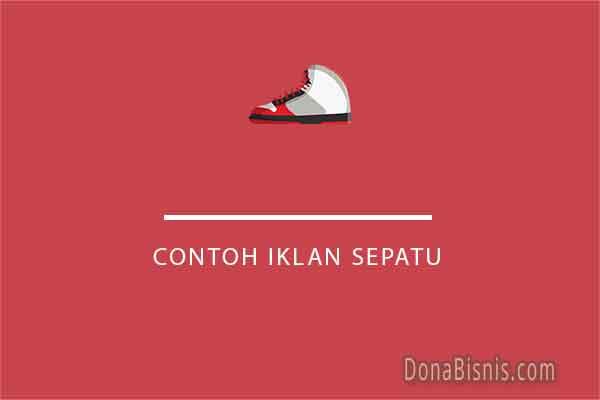 contoh iklan sepatu