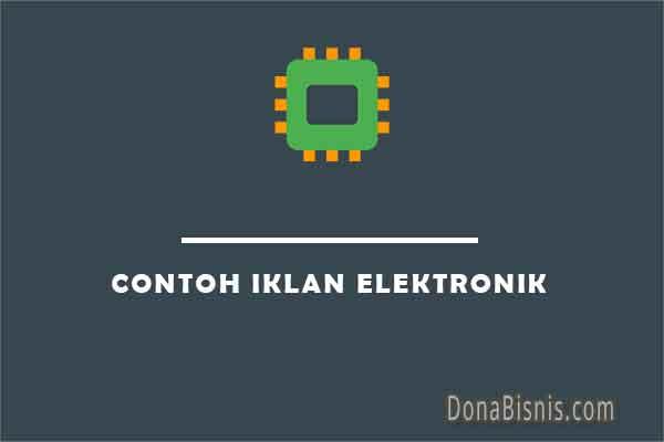contoh iklan elektronik