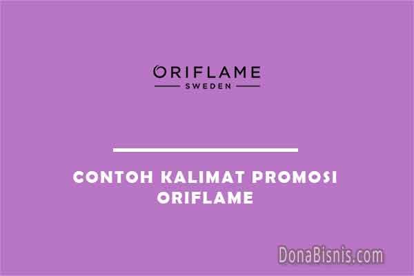 contoh kalimat promosi oriflame
