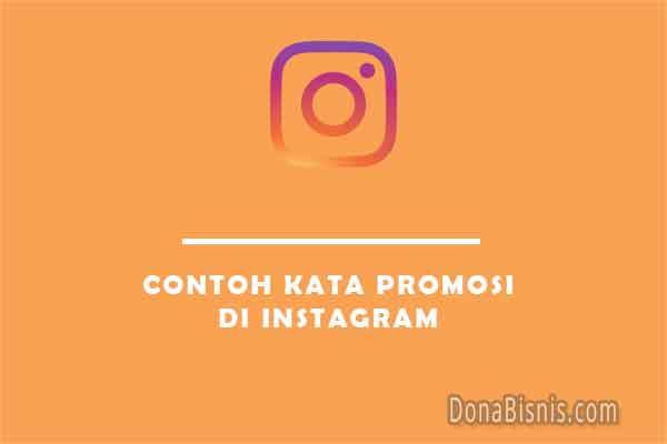 contoh kata promosi di instagram