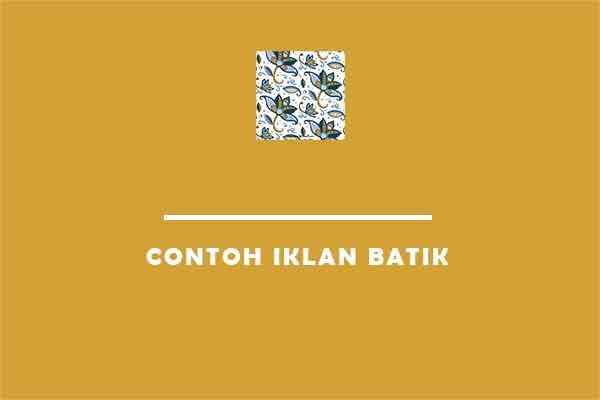 contoh iklan batik