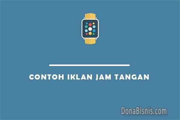 contoh iklan jam tangan