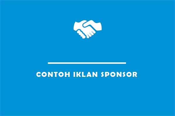 contoh iklan sponsor