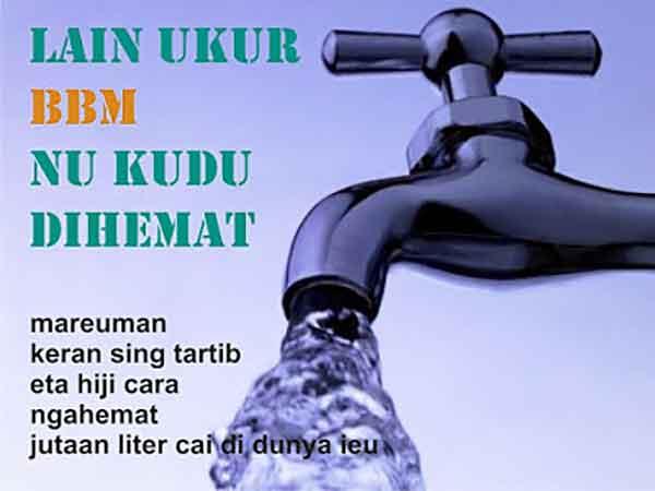 iklan bahasa sunda hemat air