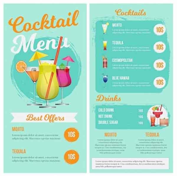 iklan brosur minuman