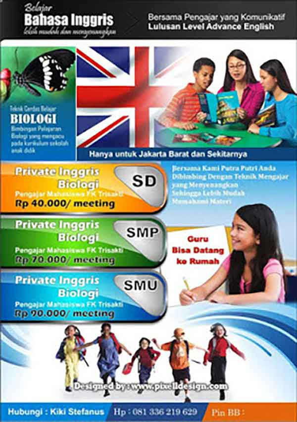 iklan pendidikan bahasa inggris