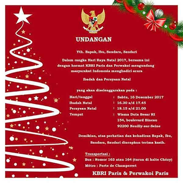 iklan undangan perayaan natal