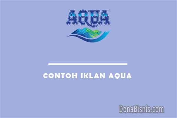 contoh iklan aqua
