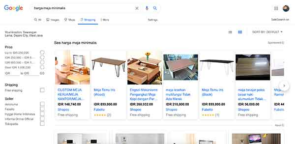 iklan google shopping