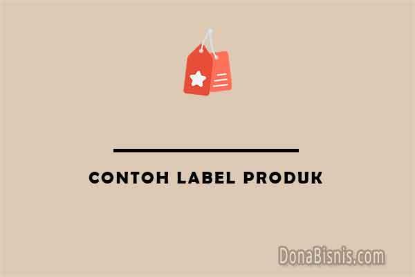 contoh label produk